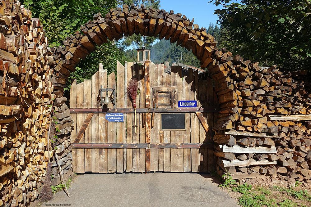 Durch dieses urige Eingangstor betritt man die Bader Alm. | Foto: Aloisia Streicher