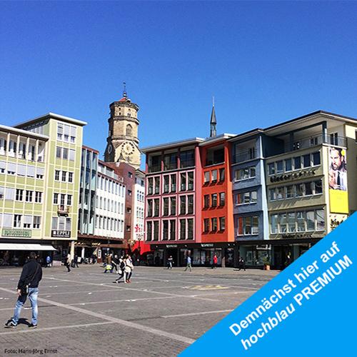 IN DER CITY Der Stuttgarter Marktplatz mit Stiftskirche  | Foto: Hans-Jörg Ernst
